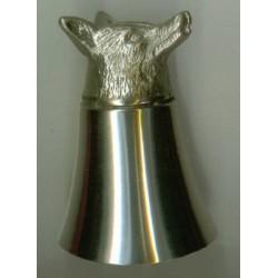 Fox Head Pewter Stirrup Cup