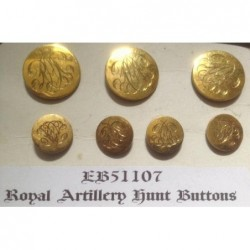 Royal Artillery Hunt Buttons